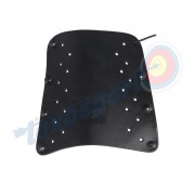 White Feather Armguard Lightning Leather Black